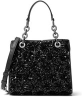 MICHAEL Michael Kors Floral Burst Small Satchel Bag, Black