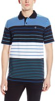 Southpole Men's Pique Polo with Thin Engineered Stripes