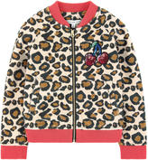 Little Marc Jacobs Printed false fur jacket