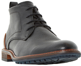 Dune Chipper Cleated Sole Leather Chukka Boots, Black