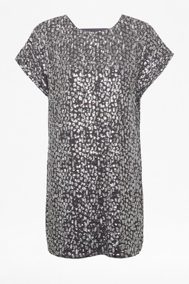 French Connection Aatami Embellished T-Shirt Dress