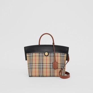 Burberry Small Vintage Check Society Top Handle Bag