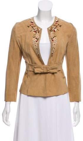 Valentino Embellished Suede Jacket