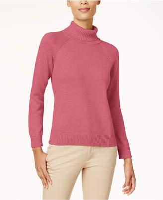 Karen Scott Petite Cotton Turtleneck Sweater