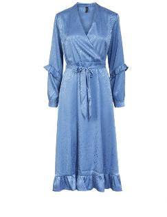Y.A.S Yasotilia Blue Wrap Dress - small
