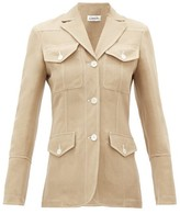Lanvin Patch-pocket Slubbed-canvas Safari Jacket - Womens - Beige