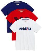 Armani Junior Armani Boys' Logo Tee, 3 Pack - Sizes 4-16