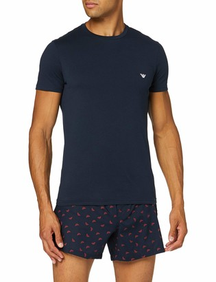 Emporio Armani Men's Loungewear-Yarn Dyed Woven Pyjamas Set