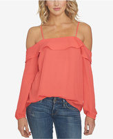 1 STATE 1.STATE Flounce Cold-Shoulder Top