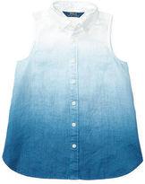 Ralph Lauren 7-16 Dip-Dyed Linen Shirt