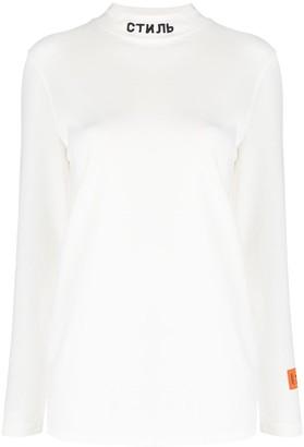 Heron Preston Embroidered Logo Cotton Sweatshirt