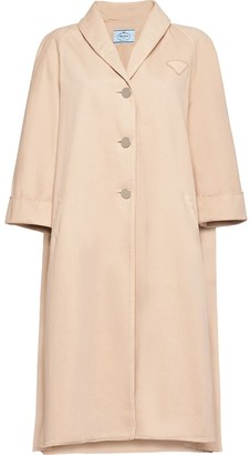 Prada Single-Breasted Denim Coat
