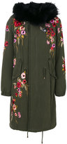 Amen floral embroidered parka coat