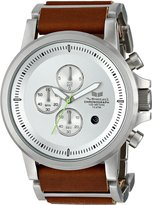 Vestal Men's PLE034 Plexi Acetate Chronograph with Brown Leather Watch