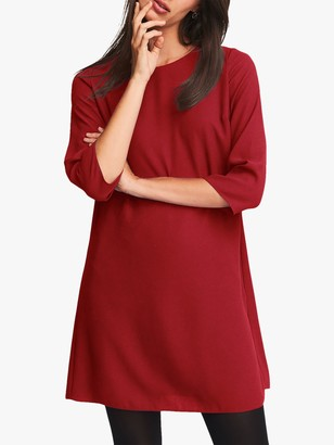 Phase Eight Pia Pleat Dress, Scarlet