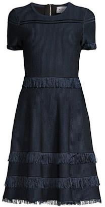 Milly Fringe Short-Sleeve Dress