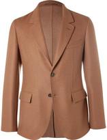 Caruso - Brown Slim-fit Camel Hair Blazer