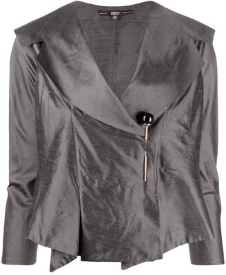 Gianfranco Ferré Pre Owned 1990s Off-Centred Pin Fastening Jacket