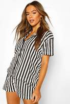boohoo Candy Stripe Jersey PJ Short Set