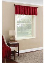 Size 56x17 Textured Solid Valance Curtain, Color Red