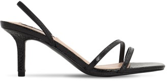 Steve Madden 70mm Python Print Faux Leather Sandals