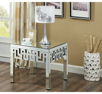 Everly Quinn Luong Mirrored End Table