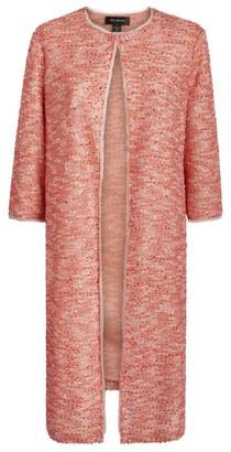 St. John Confetti Tweed Knit Overcoat
