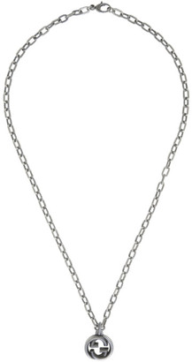 Gucci Silver Small Interlocking G Chain Necklace