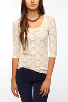 Urban Outfitters Pins and Needles 3/4 Sleeve Lace Tee