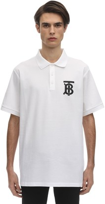 Burberry Tb Logo Print Cotton Polo