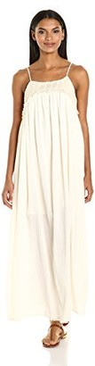 Moon River Women's Cami Maxi Dress with Crochet Detail
