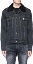 3.1 Phillip Lim Faux shearling collar denim jacket