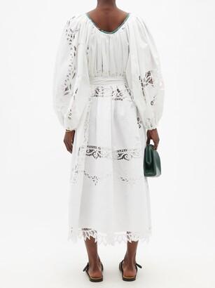 RIANNA + NINA Kendima Broderie-anglaise Cotton Midi Dress - Multi