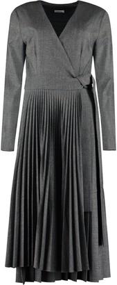 P.A.R.O.S.H. Pleated Skirt Wrap-dress