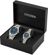 Citizen Men's & Women's Pairs Two-Tone Stainless Steel Bracelet Watch Box Set 40mm 30mm PAIRS-2016, A Macy's Exclusive Style