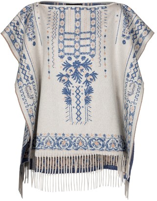 Etro Cashmere and wool poncho