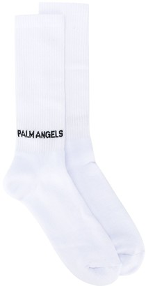 Palm Angels Logo Print Socks