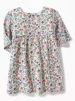 Old Navy Floral-Hedgehog Print Crepe Dress for Baby