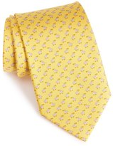 Salvatore Ferragamo Men's Bird Print Silk Tie