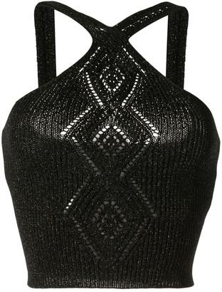 Peter Pilotto Diamond Knit Halter Top