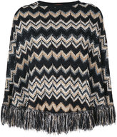 M Missoni fringed trim knitted cape