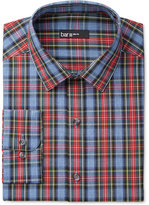Bar III Men's Slim-Fit Blue Tartan Dress Shirt, Only at Macy's