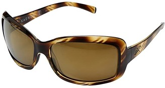 Kaenon Lunada (Striped Tort/Brown 12 Polarized Gold Mirror) Sport Sunglasses
