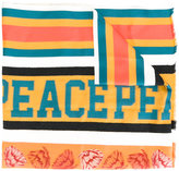 Paul Smith 'peace' striped scarf - men - Silk/Cotton/Nylon/Viscose - One Size