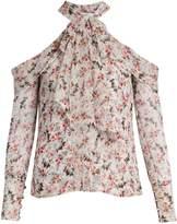 Erdem Aila floral-print silk-voile blouse