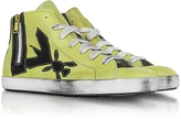 Patrizia Pepe High Top Yellow Leather Sneaker