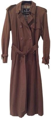 Aquascutum London Brown Cotton Coat for Women