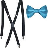 Jf J.Ferrar Solid Bow Tie & Suspenders Set