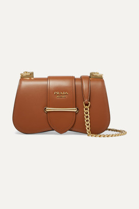 Prada Sidonie Medium Leather Shoulder Bag - Brown