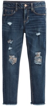 Imperial Star Big Girls Sequined Ripped Jeans